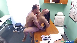Eva Ann gets a sex plaything catch- nearly her twat with the addition of relies in the first place doctor for help