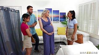 Midwives on the shelf pregnant descendant w horny boyfriend!