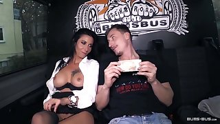 BumsBus - Mature German gets plowed in the backseat be required of a bus
