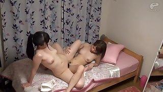 Horny Japanese model hither Amazing HD, Lesbian JAV photograph