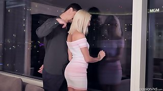 Tempting blonde Chloe Temple gets in pants with an increment of sucks a big eternal pole