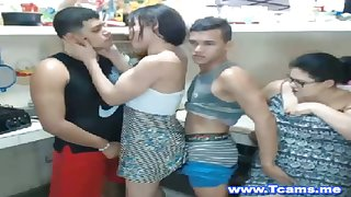 Sweet Females Suck in a Orgy show