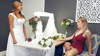 Bridesmaid calm down clothes-brush hard sex
