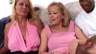 Blonde Moms share a Big Black Flannel together in Amateur Fit together Threesome Video