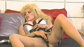 Amateur blonde mature fucks herself with a toy
