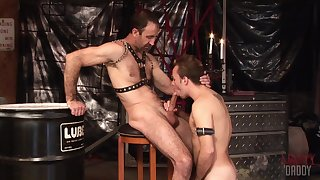 Twink loves apropos gag with his master's dig up before trying anal