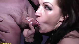 Crazy german MILF tries her sly extreme rough double anal at our weekly swinger gang orgy